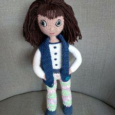 Háčkovaná panenka 30 cm Crochet Dolls, Crochet Doilies