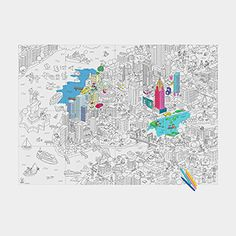 NYC Coloring Poster MOMA store $28