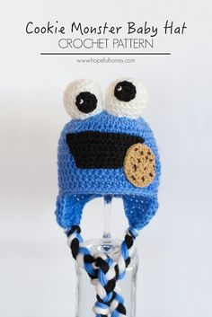 Cookie Monster Hat free crochet pattern - 10 Free Monster Crochet Patterns - The Lavender Chair