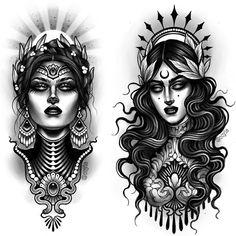 32 Most Beautiful Tattoo Ideas - Page 2 of 31 - Tattoo Designs Traditional Tattoo Sleeve, Medusa Tattoo, Dark Tattoo, Leg Tattoos, Beautiful Tattoos, Greek Mythology Tattoos, Black And Grey Tattoos, Neo Tattoo, Tattoo Designs