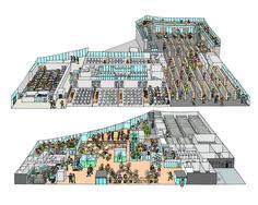 東北大学新校舎「青葉山コモンズ」の俯瞰図を描きました | 立体イラストレーターKucci