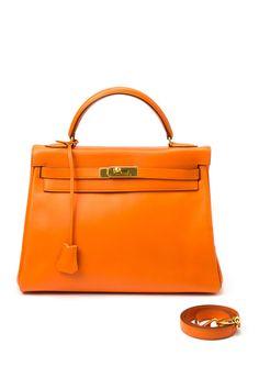 Vintage Hermes Leather Kelly 32 Handbag