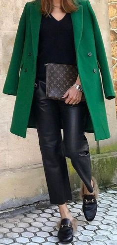 Coat+++Sweater+++Faux+leather+pants #omgoutfitideas #style #outfitinspiration
