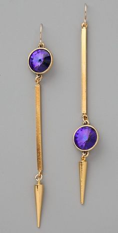 Gemma Redux -- Asymmetrical Tanzanite Earrings