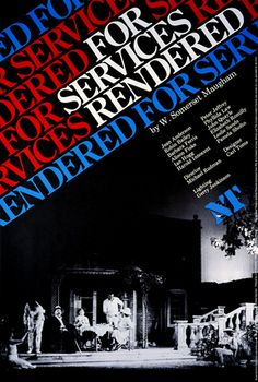 For Services Rendered -- 1979 -- High quality art prints, framed prints, canvases -- National Theatre Posters