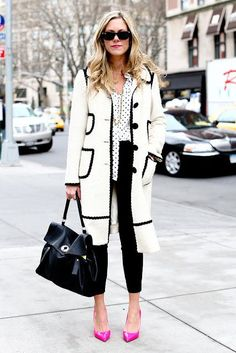 monochrome perfection ... and those shoes!