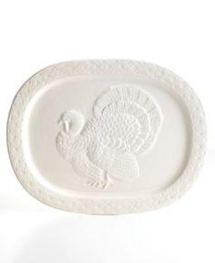 Martha Stewart Collection French Cupboard Turkey Platter