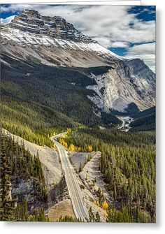 Icefield Parkway Scenic Drive Greeting Card by Pierre Leclerc Photography