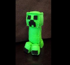 Creeper Felt Plush Pattern (Inspired by Minecraft) Computer Game Gamer Gift (3.00 USD) by PlushiesbyRenee