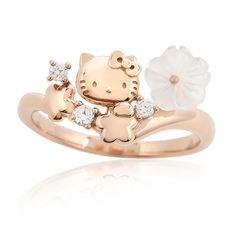 ANITTO FRIENDS: It includes the Hello Kitty ring (ring / accessories) 11 pink gold Flower Bouquet Sanrio present postage Sanrio Hello Kitty, Hello Kitty My Melody, Pink Hello Kitty, Hello Kitty Items, Hello Kitty Merchandise, Hello Cute, Hello Kitty Jewelry, Hello Kitty Collection, Cat Ring