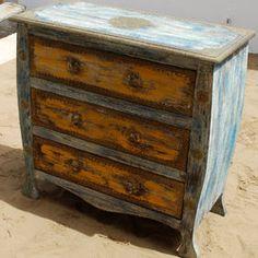 "Oklahoma Farmhouse Painted Distressed 3 Drawer Dresser- 35"" L X 16"" D X 35"" H; $601.99; SKU: 253945004; Solid Wood; 100% Handmade; 1 year Full Warranty"
