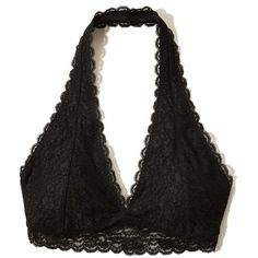 f1f37dae32 Hollister Gilly Hicks Removable-Pads Lace Halter Bralette (1.065 RUB) ❤  liked on