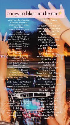 Road Trip Playlist, Summer Playlist, Summer Songs, Song Playlist, Music Mood, Mood Songs, Positive Songs, Heartbreak Songs, Playlist Names Ideas