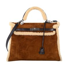 SUPER RARE COLLECTORS HERMES KELLY BAG 35cm TEDDY KELLY | From a collection of rare vintage handbags and purses at http://www.1stdibs.com/fashion/accessories/handbags-purses/