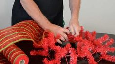 How to Make a Christmas Wreath with Deco Poly Mesh http://www.youtube.com/watch?v=-wRr_xT32mY
