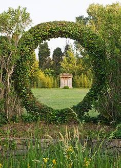Clive Nichols photo of Dominique LaFourcade's  - fabulous Garden Structures, Garden Gates, Garden Art, Garden Design, Veg Garden, Formal Gardens, Small Gardens, Outdoor Gardens, Beautiful Gardens