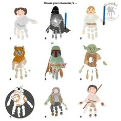 Starwars themed handprint gift from children for their Dad Diy Father's Day Crafts, Father's Day Diy, Crafts For Boys, Fathers Day Crafts, Baby Crafts, Toddler Crafts, Preschool Crafts, Kids Educational Crafts, Spring Crafts