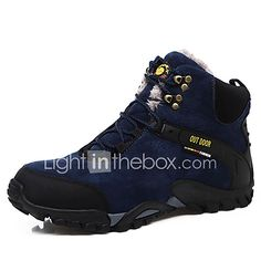 best loved da034 f237f Hombre Botas de nieve Ante Invierno Confort Botas Senderismo Listo para  vestir Negro   Azul 2019 - US  34.99