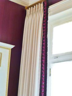 leading edge of draperies
