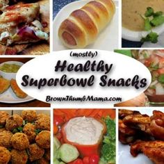 (Mostly) Healthy Superbowl Snacks: for a day of food, fun, food, football, and food!