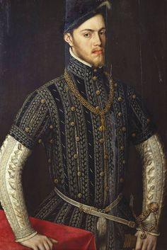 Un retrato de Felipe II (1527-1598), rey de España. Después de Antonio Moro, 1558. La esposa de Felipe María I de Inglaterra murió el mismo año que este retrato fue pintado.