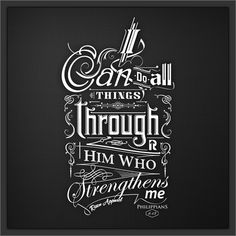 Phil 4:13 #typography #lettering