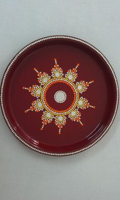 Shop online diwali pooja thali and get best online for Aarti thali decoration with clay