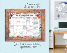 2017 college dorm room organization ideas! This calendar makes the best decor item and keeps all your assignments and events flowing nicely!