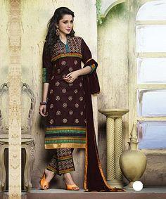 Embroidered Designer Cotton Suit, Cotton Salwar Suit, Online Shopping, Designer Long Suit, Buy Embroidered Designer Cotton Suit, Cotton Salwar Suit, Online Shopping, De - iStYle99.com