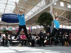 Cincinnati, it's the time to support the arts. Photo: Brianna Habel (left) and Samantha DeBenedictis, dancers with the Cincinnati Ballet, performed in Concourse B at Cincinnati/Northern Kentucky International Airport as a promotion for ArtsWave, an annual community fundraising campaign for the arts in 2011. The Enquirer/Patrick Reddy