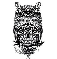 Cute Inspired Girls Big Arm Temporary Owl Tattoo Sticker Paper ...