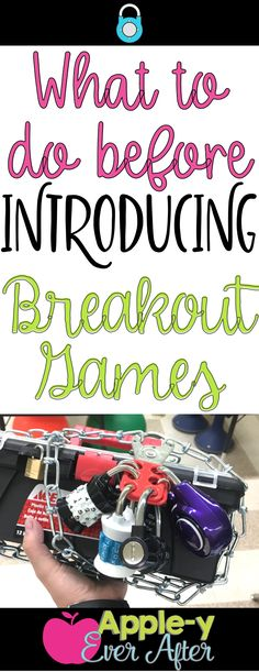 Introducing Breakout Games in my elementary classroom was a hit! The kids had fun trying to escape, while the games promoted mathematical thinking. Elementary Classroom Themes, Classroom Routines, Elementary Library, Elementary Math, Classroom Ideas, Ela Classroom, Classroom Activities, Classroom Organization, Breakout Edu Games