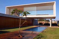 stylish home with backyard swimming pool