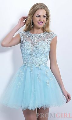 Blush Babydoll Homecoming Dress at PromGirl.com