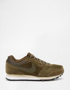 Nike | Nike MD Runner 2 Dark Green Trainers at ASOS