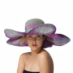 Blue and Purple Sun Hat Floral Summer Hat by MaorZabarHats on Etsy