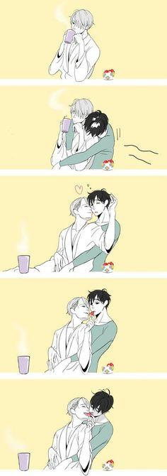 Vicktor x Yuri/ Yaoi ❤️ Victor Y Yuri, Yuri On Ice Comic, Katsuki Yuri, Katsudon, ユーリ!!! On Ice, Anime Lindo, Yuri Plisetsky, Image Manga, Cute Gay