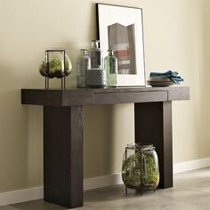 "Console Table Furniture 48"" x 15"" x 30"" Tv Stands Console Desk Table Espresso Color Special Orden for Victor Zapata. on Etsy, $369.00"