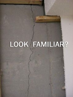 I have a crack in the brick veneer of the exterior for Poured concrete foundation cracks