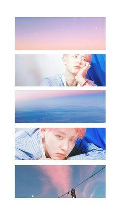My gradients and you graded in them. More Wallpaper, Colorful Wallpaper, Galaxy Wallpaper, Chanyeol Kokobop, Exo Kokobop, K Pop, Exo Lockscreen, Exo Members, Chanbaek