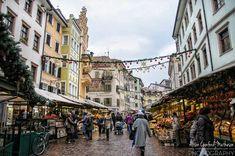 The beautiful Piazza delle Erbe, Bolzano. Vegetable market