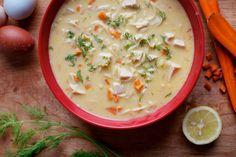 Creamy Greek Noodle Soup.    No Dairy!