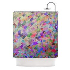 "Kess InHouse Marianna Tankelevich ""Abstract"" Rainbow Shower Curtain, 69 by 70-Inch Kess InHouse"