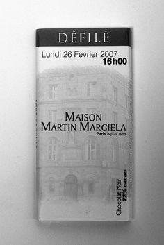 Maison Martin Margiela chocolate invitation