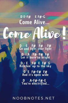 music notes for newbies: Come Alive – The Greatest Showman. Play popular songs and traditional music with note letters for easy fun beginner instrument practice - great for flute, piccolo, recorder, piano and Piano Music With Letters, Piano Sheet Music Letters, Clarinet Sheet Music, Easy Piano Sheet Music, Music Chords, Violin Music, Ukulele Songs, Music Music, Saxophone