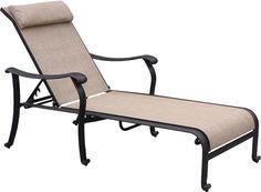 Trinity Chaise Lounge with black iron frame idea