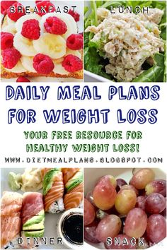 Eat better, feel better with daily healthy meal plans for weight loss at http://dietmealplans.blogspot.com #healthyeating #healthyweightloss