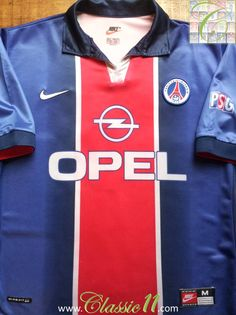 d15b4e1d865 1998 99 PSG Home Football Shirt (L). Vintage Football ShirtsClassic ...