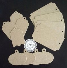 Hanging Tags Chipboard Die Cuts no 1  Chipboard Charms by Annie42, $0.99