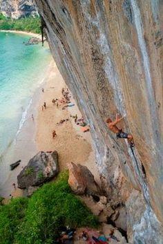 Rock climbing in Tonsai, Thailand